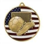 Patriotic Soccer Medals