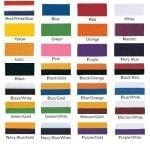 Neck ribbon color choices part 1