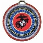 Custom Insert Medals Red, White and Blue