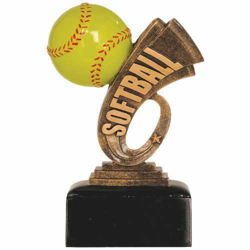 Resin Softball Trophy Headline Series
