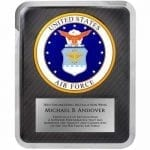 Air Force Hero Plaque Award
