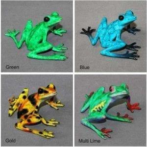 Bronze Frog Figure Mona Lisa colors