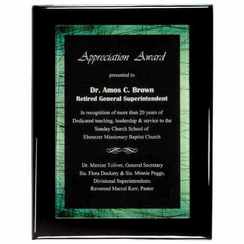 Black Plaque Award