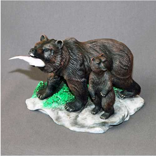 Bear Sculpture with Cub