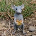 Bronze Gray Mouse Figurine