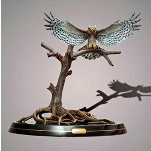 Bronze Owl Statue