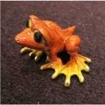 Collectible Frog Figure Orange Dezerae