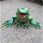 Frog Figurine Lemon Lime Mikey
