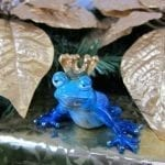 Frog Prince Bronze Sculpture Blue