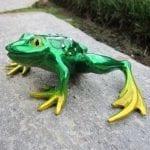 Frog Sculpture Bumpy Lemon Lime
