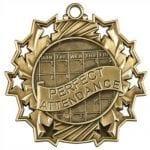 Ten Star Perfect Attendance Medals