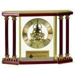 Four Pillar Rosewood Clock