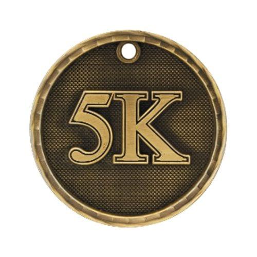5K Marathon Medals in 3D