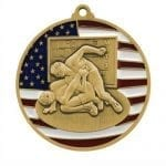 Patriotic Wrestling Medals
